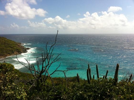 Utsikt från östra sidan på Mustique
