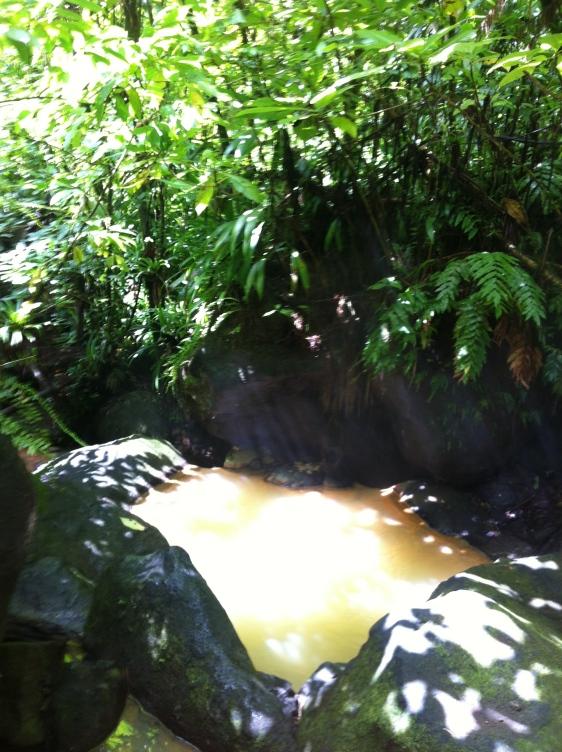 Här badade vi också!