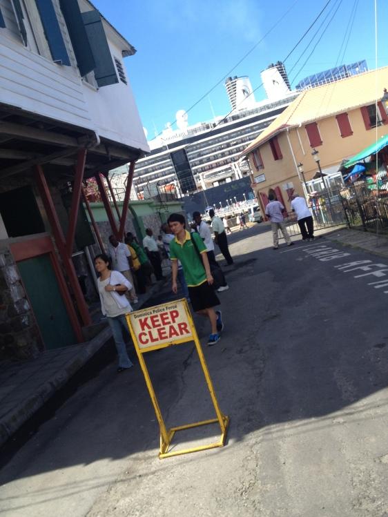 Staden stängs av för kryssningspassagerare