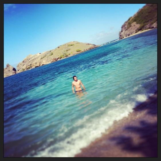 Bad vid stranden