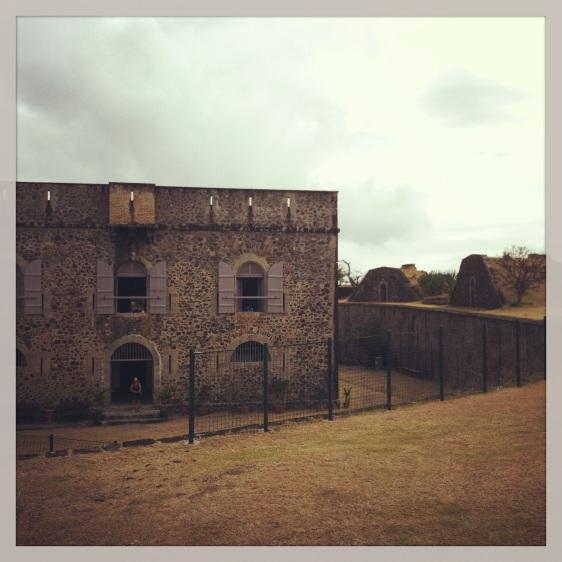 Turen gick till Fort Napoleon med ön historia och sjöslag beskrivna