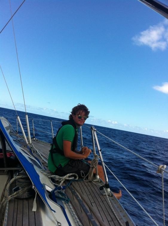 Lugn segling över