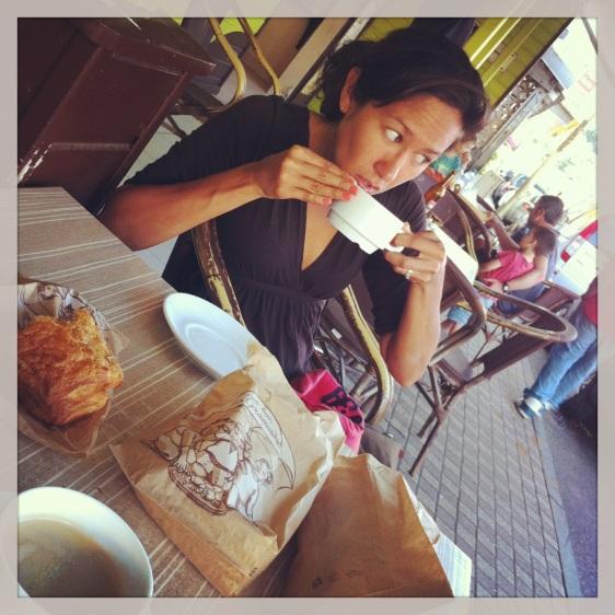 Morgonkaffe i Deshaies