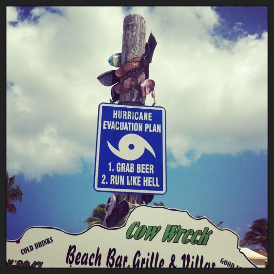Populär skylt här i Karibien!