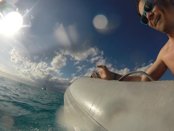 Erik och Johan på snorkeltur