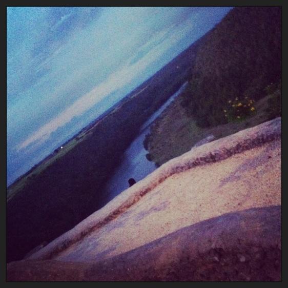 Fantastisk utsikt över floddal
