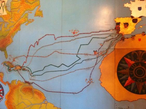 Colombus fyra upptäcktsfärder där DR upptäcktes först