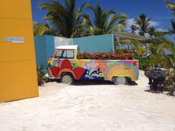 Ingång till lunchrestaurang på Punta Cana