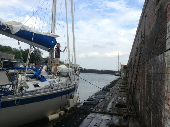 På väg ut i Östersjön
