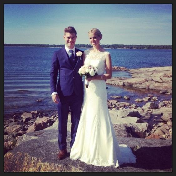 Fina Ellen och Ian på bröllopet i Öregrund